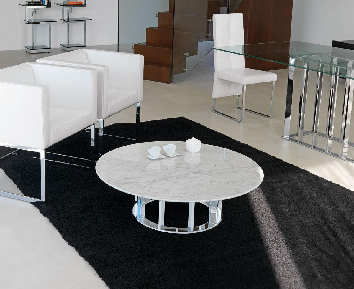 round coffee table glass italian legs metal marble modern online furniture stores shops choice design delivery - Table Salon Design
