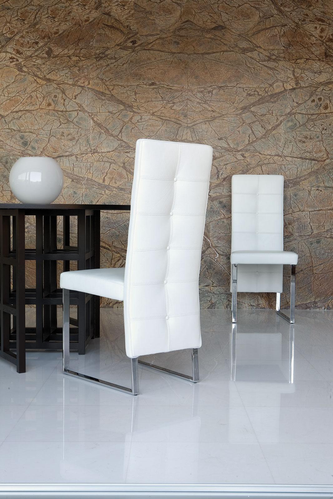 Nizza sedia imbottita schienale alto italy dream design for Sedia design schienale alto