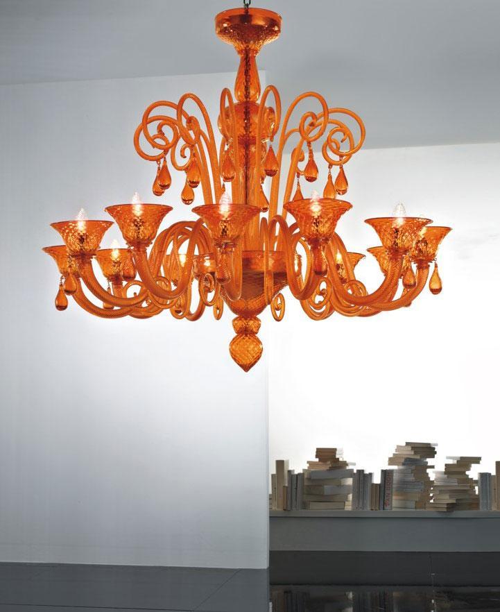 Nube 12 l murano glass pendant light idd nube 12 l pendant light in orange murano glass aloadofball Image collections