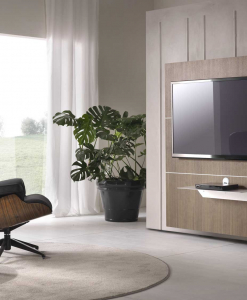 OPEN Tv Stand with Openable Front Panel Veneered