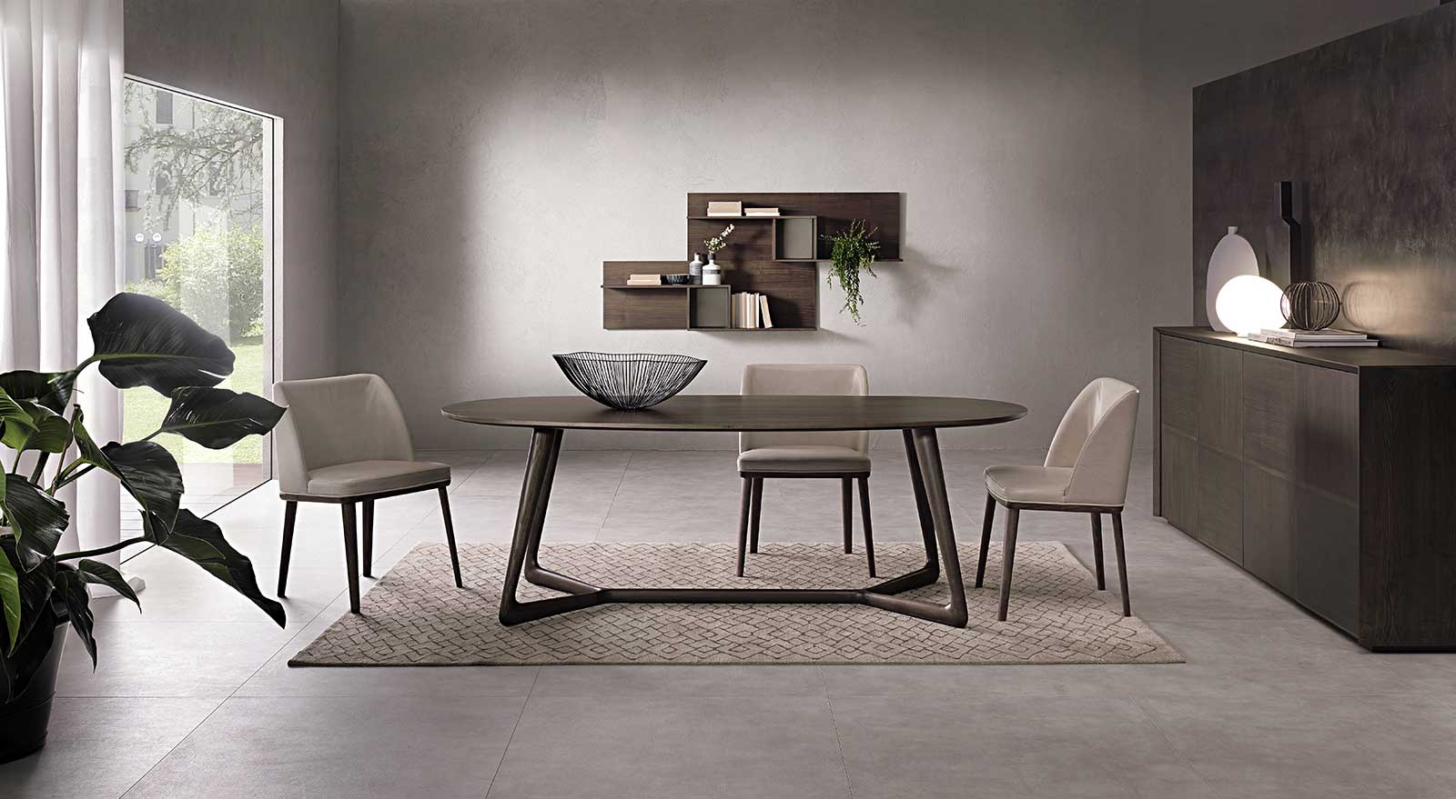 Over Oval Dining Table