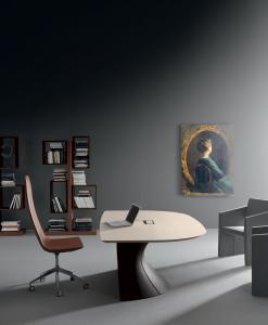 bureau directionnel cuir MDF Mario Mazzer design haut de gamme luxe moderne en ligne mobilier meuble bureau internet site italiens qualité managerial