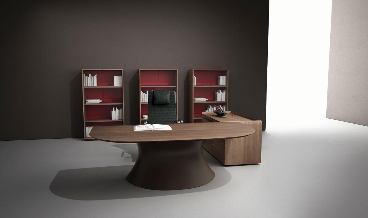 Ola scrivania direzionale con piano in noce italy dream for Arredo ufficio direzionale offerte