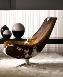 arredamento casa on line moderno di lusso 2017 design made in Italy Oyster poltrona pelle girevole bianca rossa nera invecchiata mucca inspiration web