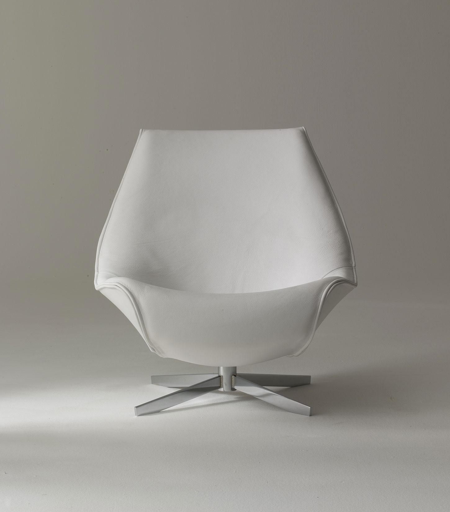 Oyster fauteuil pivotant en cuir vente en ligne italy dream design - Fauteuil relax design cuir ...