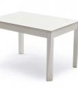 Tavolo rettangolare trasformabile bicolore creato da Hanno Giesler, brevettato. Si espande sia in larghezza che in profondità. Consegna a domicilio gratuita