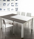 Hanno Giesler designed Plurimo, a rectangular convertible two-tone table extendable in both width and depth. Patented and made in Italy. Free home delivery.