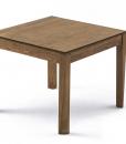 tavolo da pranzo quadrato trasformabile ed allungabile in frassino tinto noce.