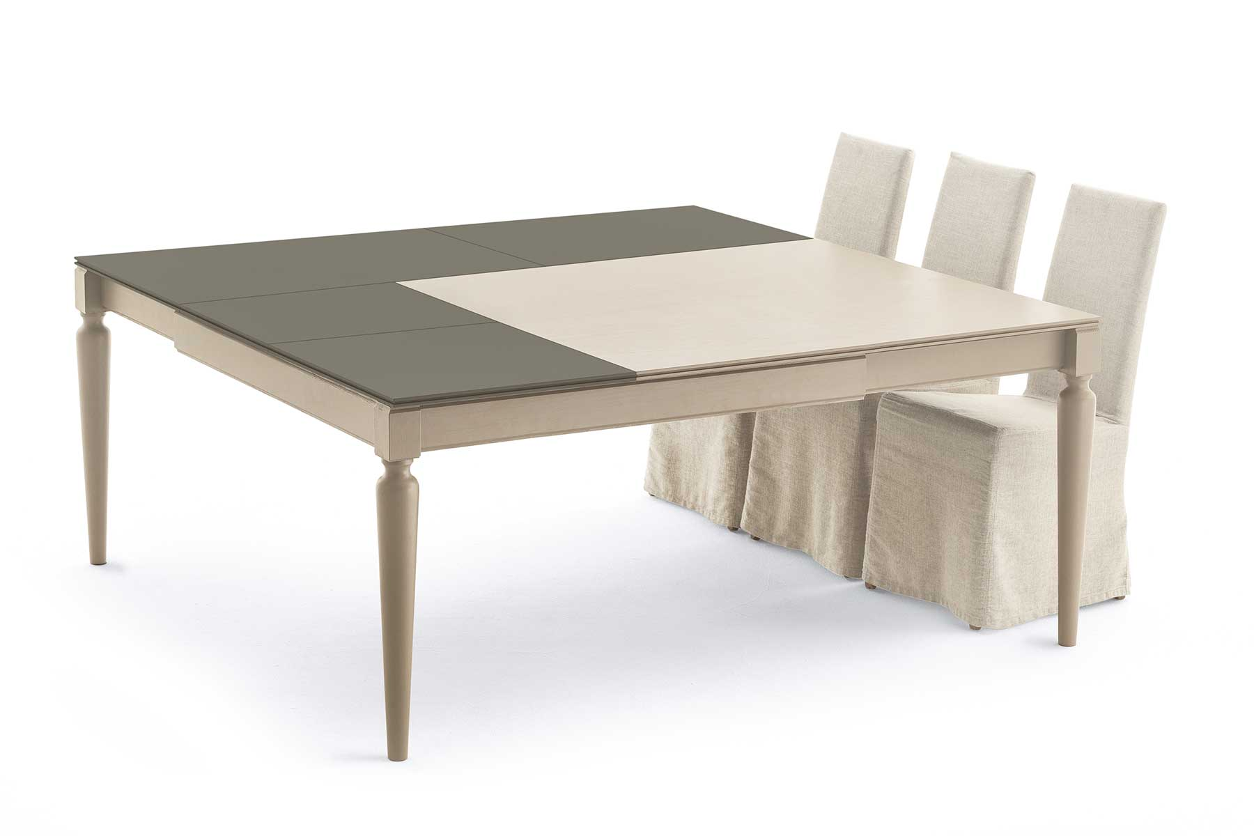tavolo quadrato trasformabile made in italy