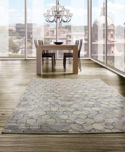 carpet pure wool silk rectangular original Shop for contemporary rugs blu