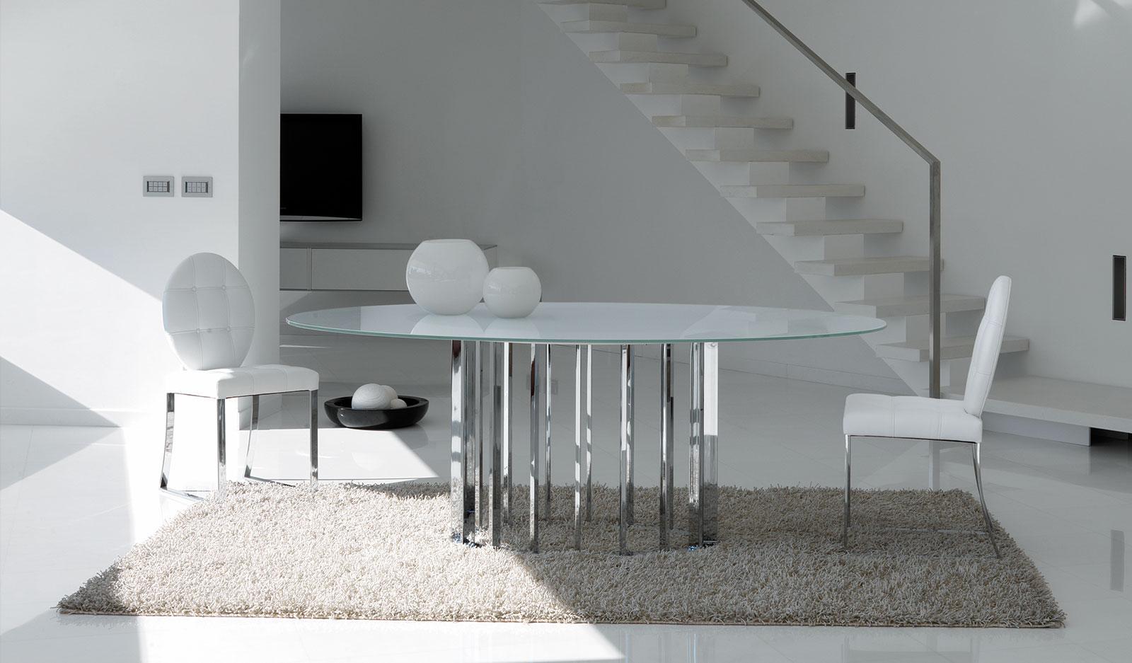 Sedia Imbottita Design : Parisienne sedia imbottita metallo cromato e pelle italy dream design