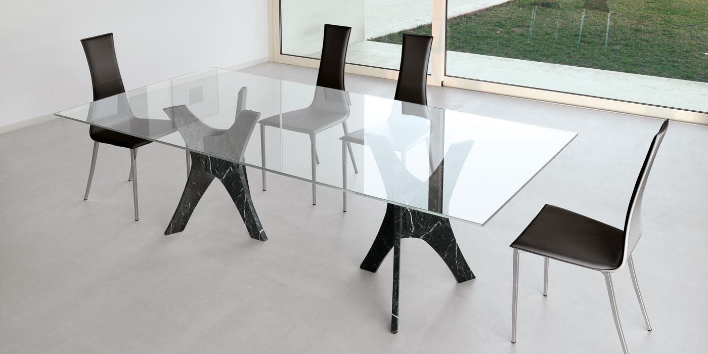 Tavolo Rettangolare In Vetro.Pantheon Tectangular Fixed Glass Table Shop Online Italy Dream