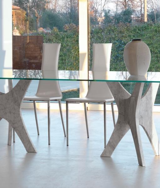 Tavolo Quadrato Allungabile Vetro Trasparente.Pantheon Tavolo Rettangolare Fisso Italy Dream Design