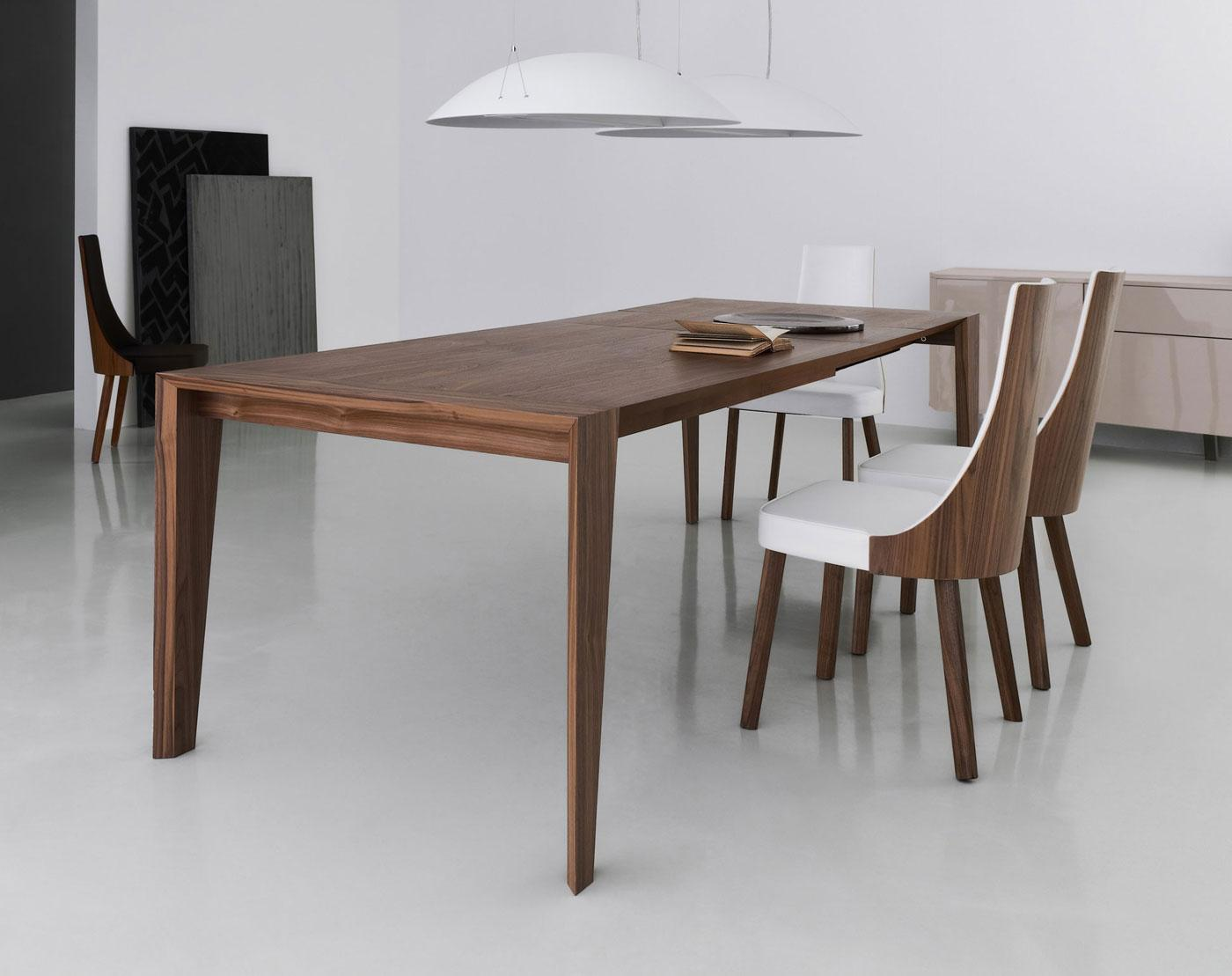 pulse 175 extendable wood dining table | shop online - italy dream