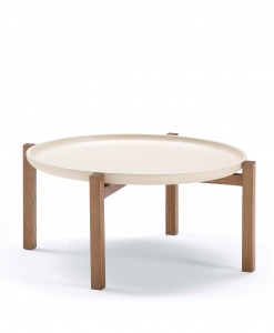 PONG Low coffee table in solid ash wood