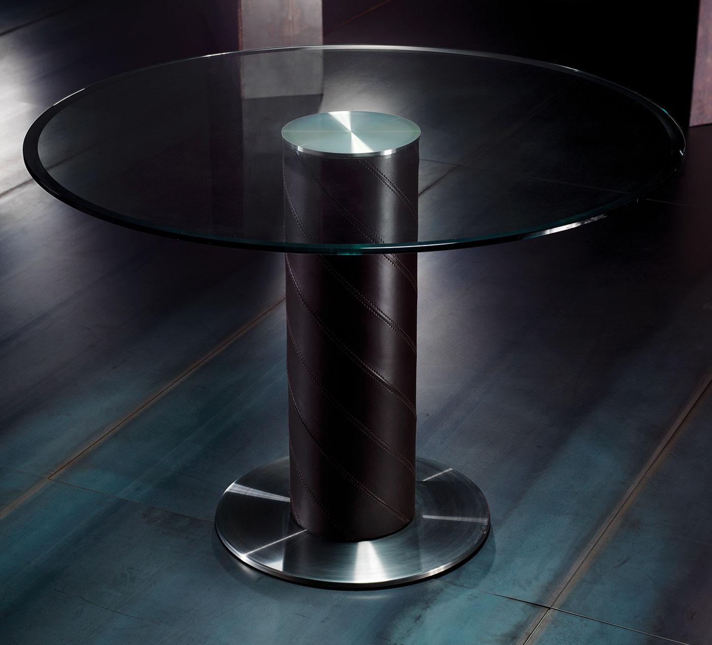 Rolling tavolo rotondo italy dream design for Tavolo vetro satinato