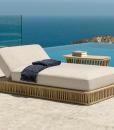 Chaise longue da esterno in aluminio e corda beige. Comprate online i nostri mobili da giardino design e di alta qualità con consegna gratuita.