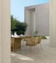 Poltroncina da esterno in alluminio e corda intrecciata sintetica beige. Comprate online mobili da giardino di alta qualità, design e con consegna gratuita.