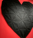 Intense black. High-quality wool and viscose. Shop online for an original heart-shaped black rug, 200 x 200 cm. with free home shipping.