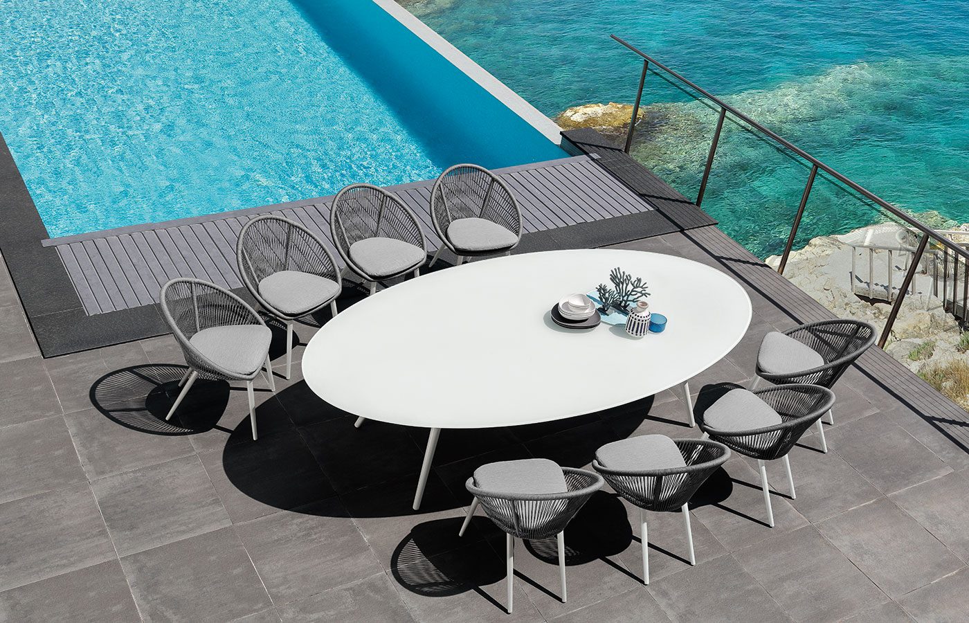 Rope table de jardin ovale - IDD