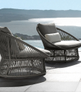 Garden furniture for luxurious villas, hotels, yachts or restaurants. Grey aluminium frame for Rope outdoor armchair. Shop online, free shipping.