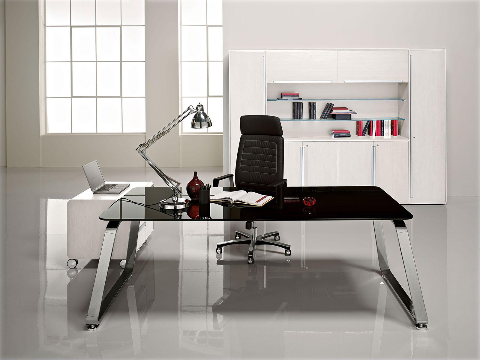Bureau en verre vente en ligne italy dream design - Bureau de direction luxe ...