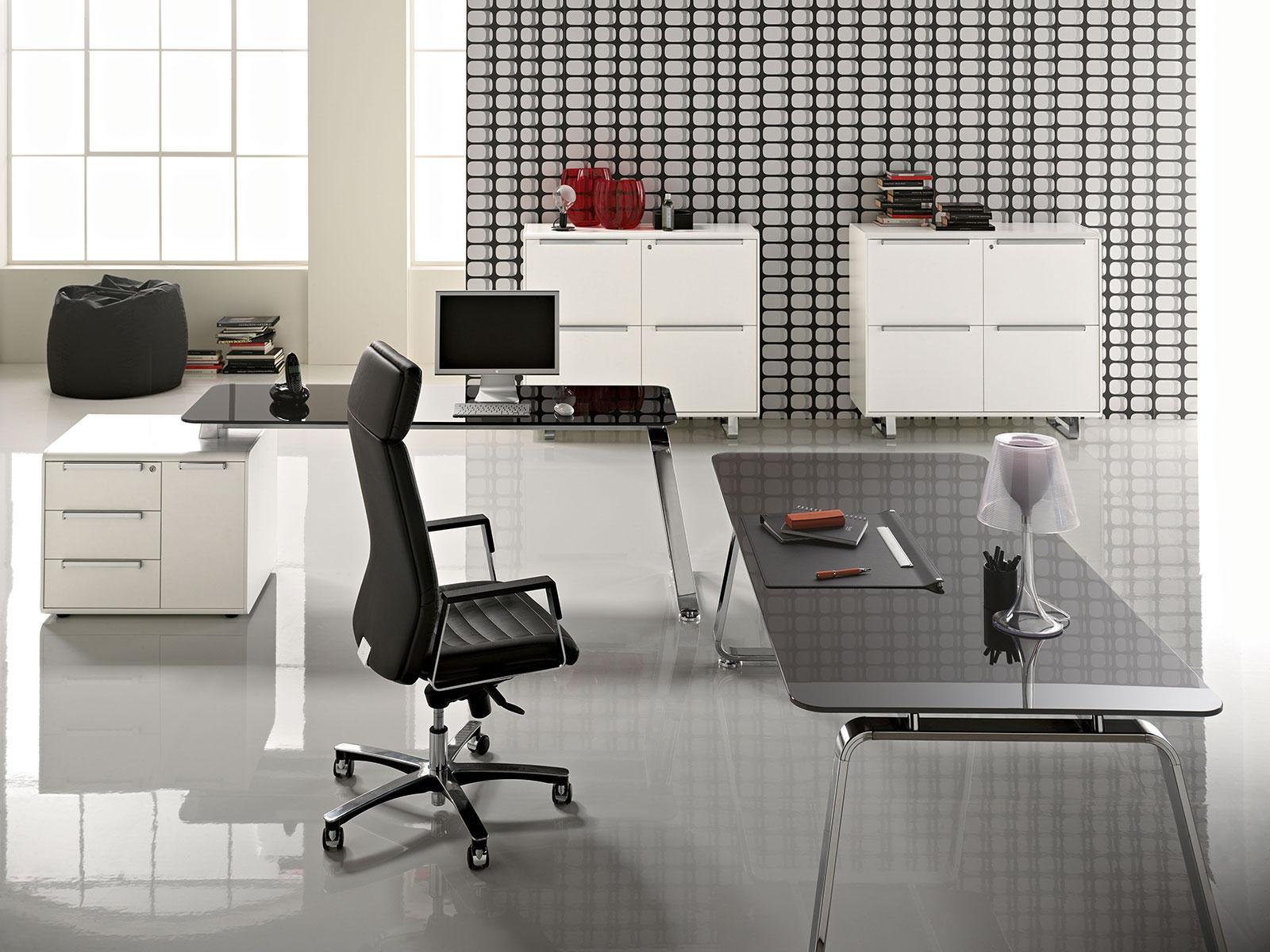 scrivania manageriale arredamento casa ufficio on line moderno di lusso 2015 design web made in italy ufficio direzionale vetro originale legno cassettiera