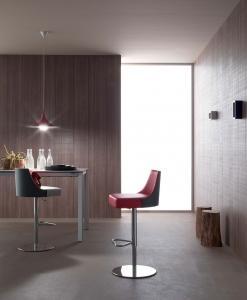 sgabello ergonomico bar alto acciaio bianco cucina schienale girevole metallo nero negozio poggiapiedi regolabile rosso arredamento casa 2015 made in italy