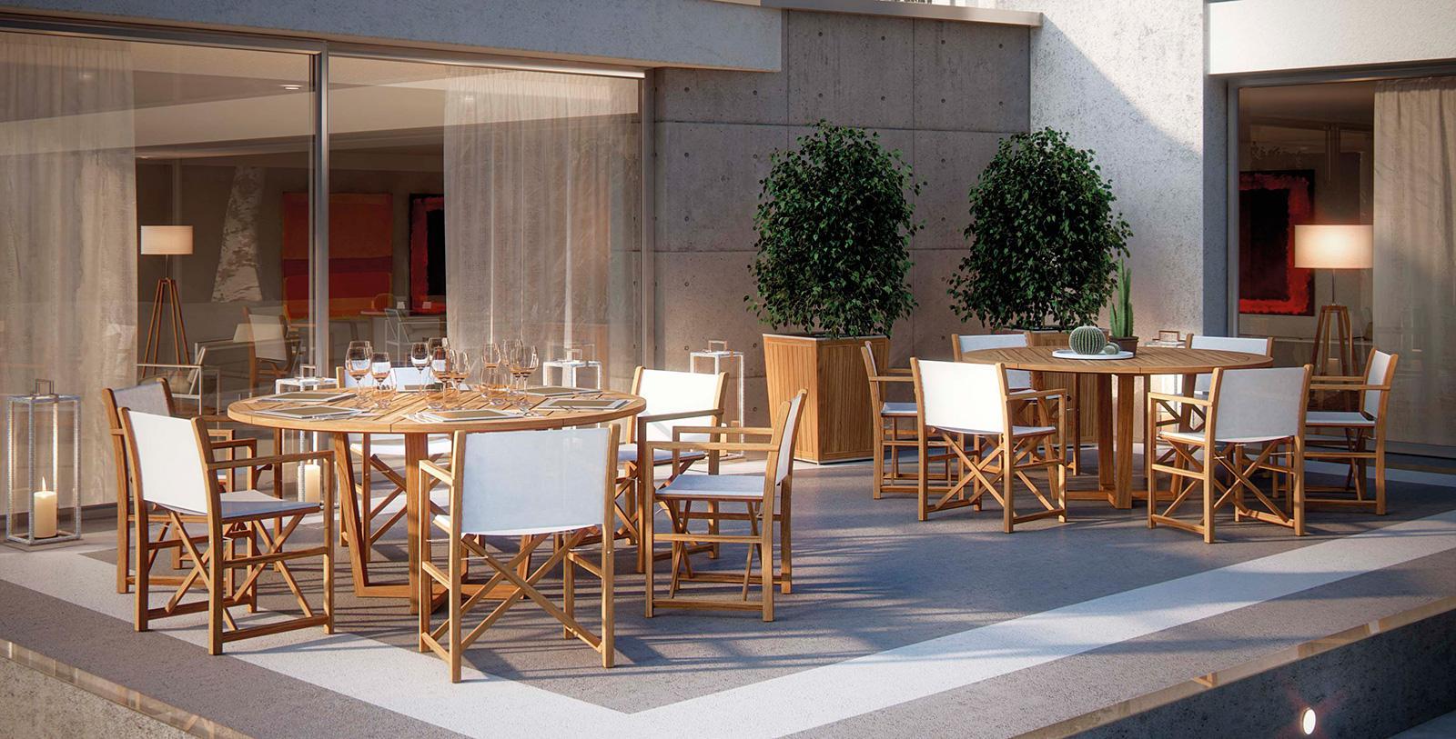 Sahara sedia registra da esterno in teak vendita online for Tavoli da esterno design