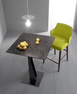 tavolo snack tavolino arredamento casa / ufficio on line moderno lusso quadrato design web salotto soggiorno alto da fumo made in italy tavolino in metallo
