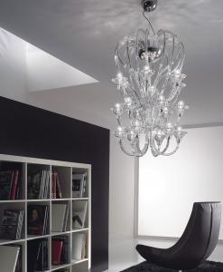 sospensione vetro di Murano lampadario contemporaneo Murano acquisto online design vetro soffiato cristallo