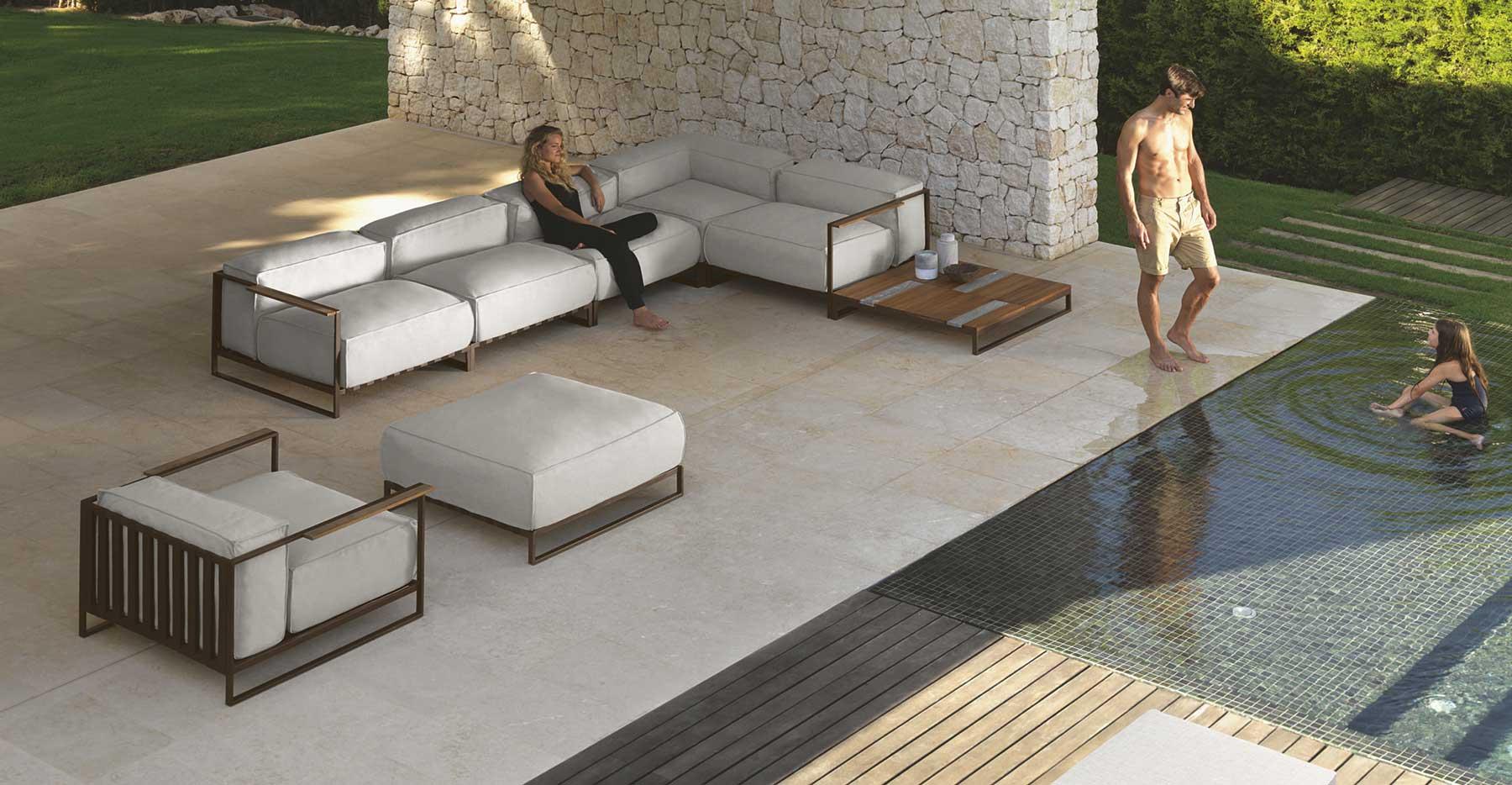 SantaFe salotto da giardino completo - Italy Dream Design