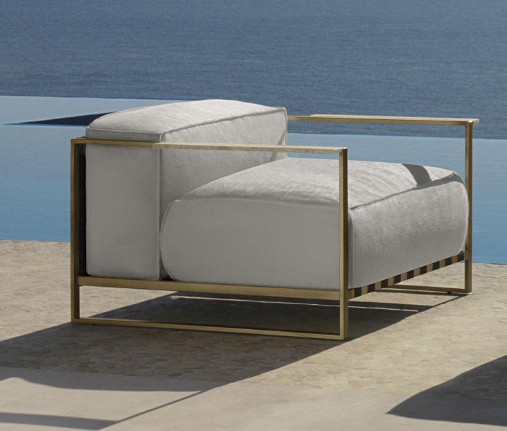 Mobili Da Giardino Di Design.Santafe Poltrona Da Giardino In Acciaio Italy Dream Design