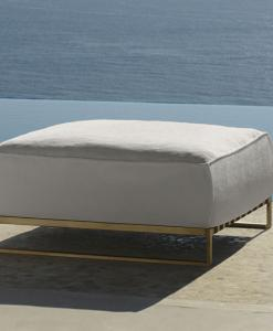Garden ottoman. Complete your outdoor with luxurious garden furniture. Sofa, armchair, coffee table, lounge set. Design by Ramon Esteve. Buy online.