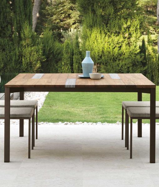 SantaFe table de jardin en bois iroko