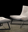 Scarlett Chaise Longue in Ivory Leather