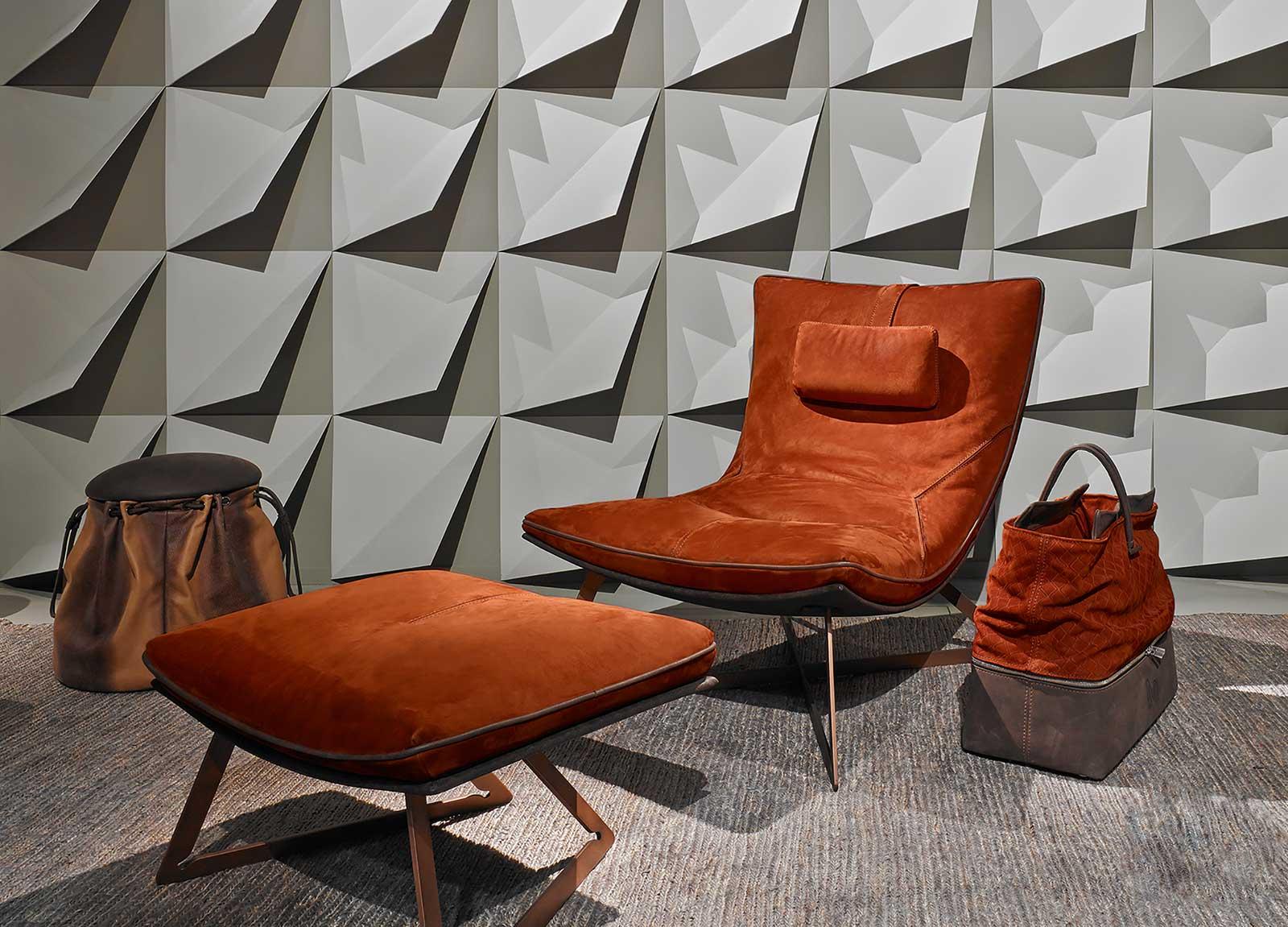 Chaise longue en cuir. Vente en ligne de chaises longues et meubles haut de gamme made in italy. Livraison gratuite d'ameublement design de luxe.