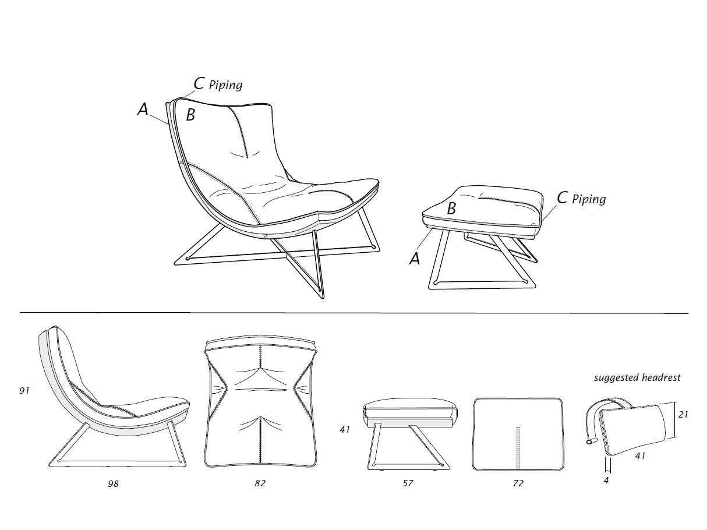 Chaise longue en cuir crème made in italy. Vente en ligne de meubles et fauteuils relax design haut de gamme avec livraison gratuite.