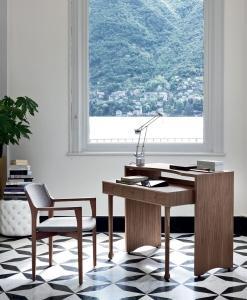 scrittoio casa ufficio on line moderno 2015 design made in italy bianco camera cassetti estraibile noce legno massello laccato porada prezzi scrivania wenge