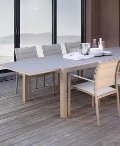 tavolo allungabile vetro temperato alluminio satinato trasparente prezzi cristallo esterno outdoor piscina giardino terrazza balcone yacht arredamento lusso