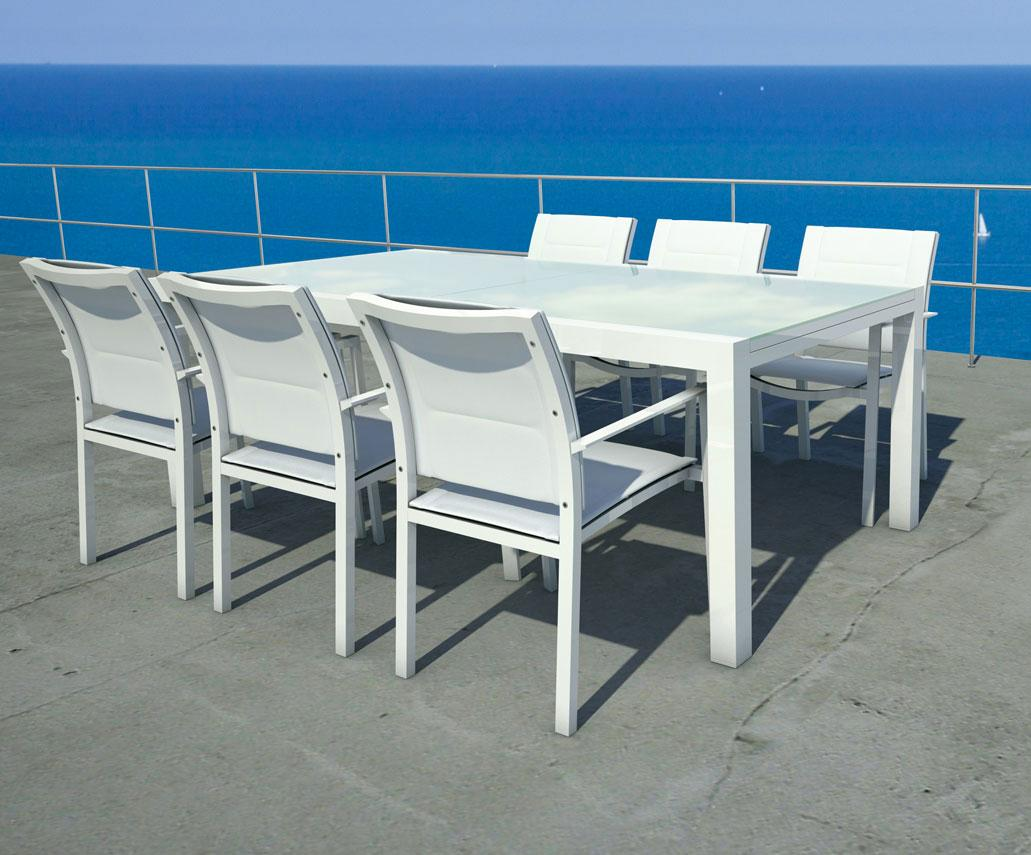 Sense outdoor extendable table 220 330 idd for Ameublement chaises