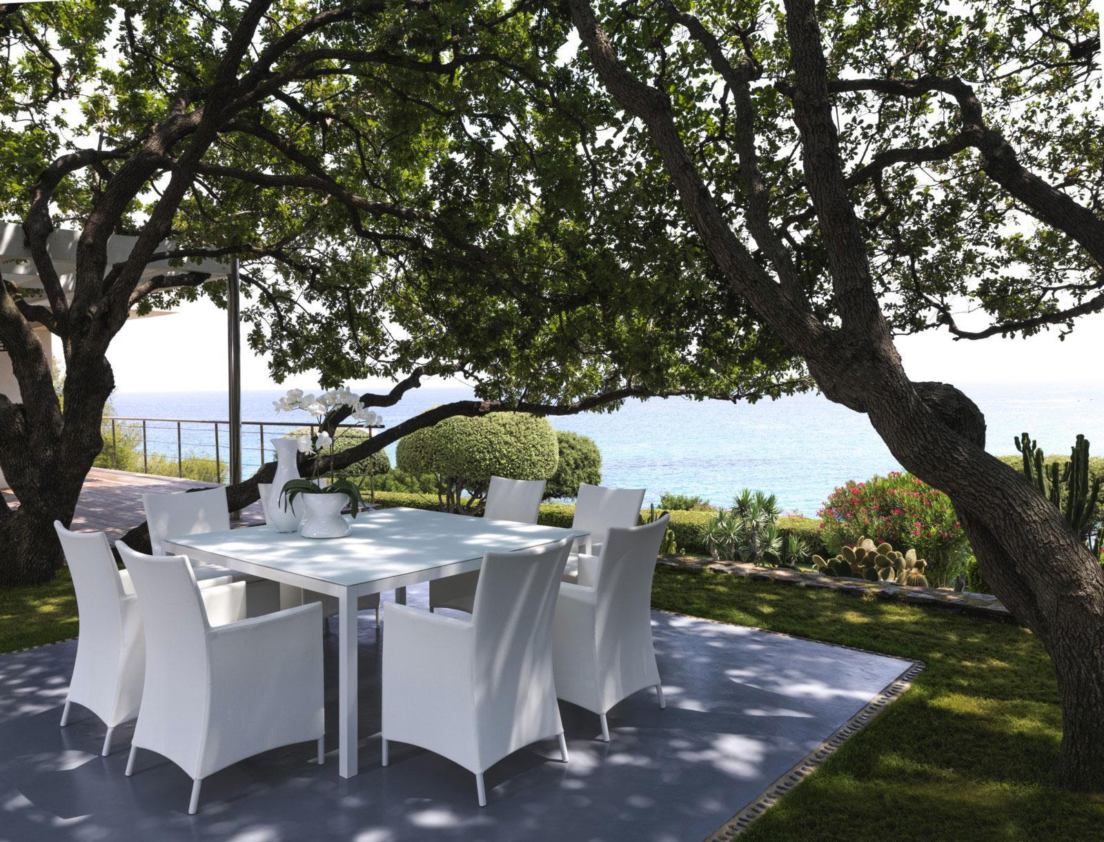Table de jardin carr e en aluminium vente en ligne - Table carree exterieur aluminium ...