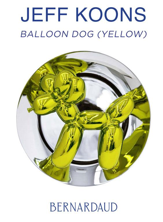Bernardaud et Jeff Koons - Ballloon Dog Yellow
