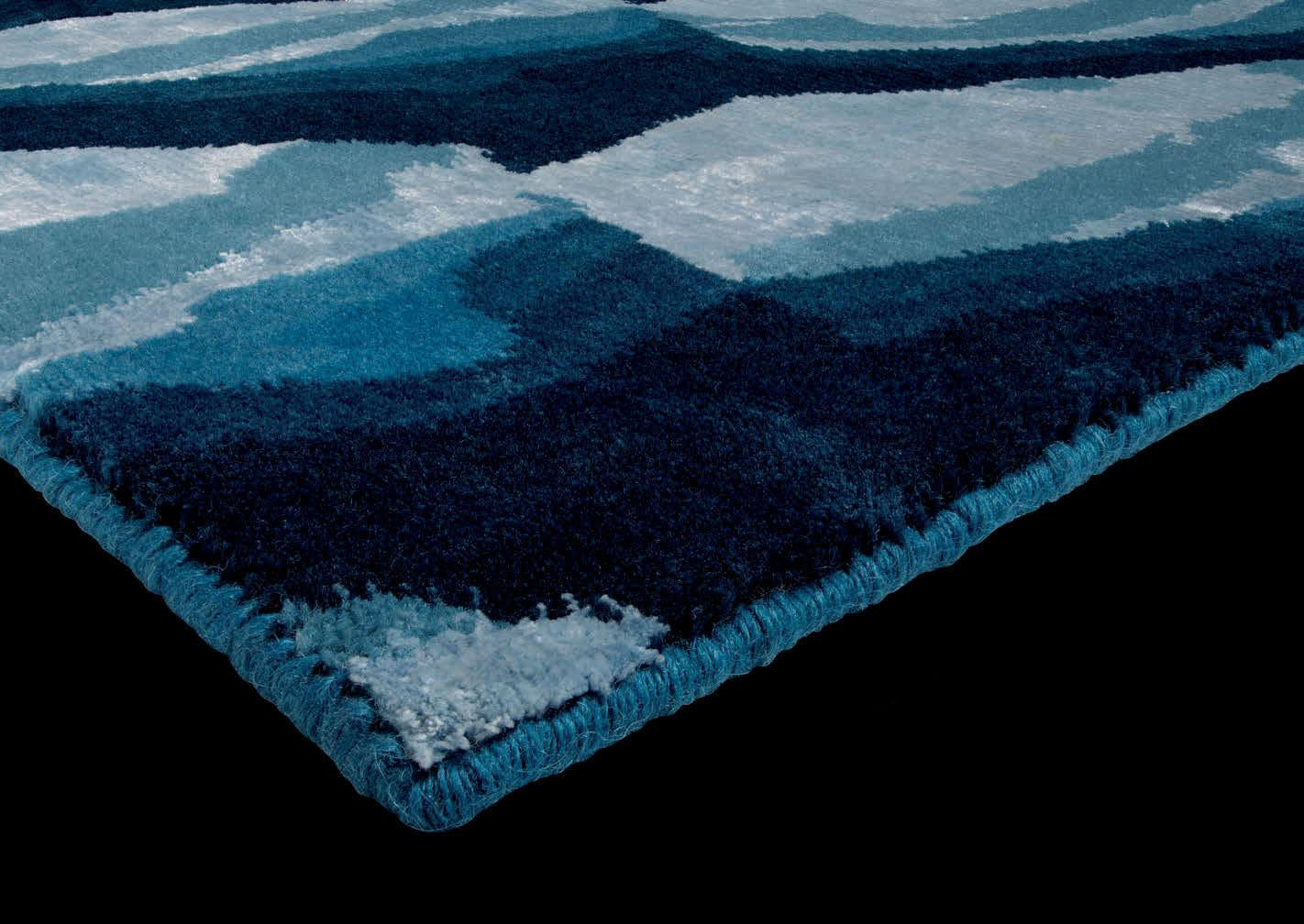 Tappeto Moderno Turchese : Ginger tappeto in seta e lana italy dream design
