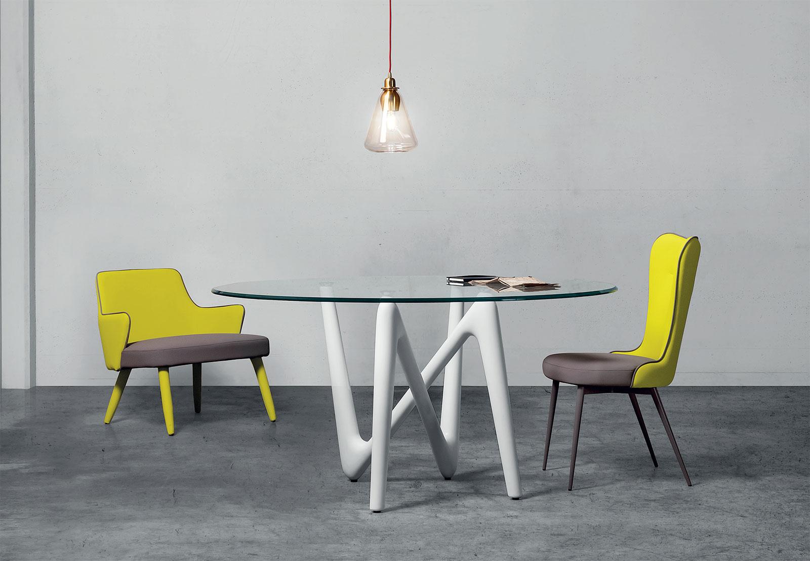Edge tavolo da pranzo rotondo - Italy Dream Design