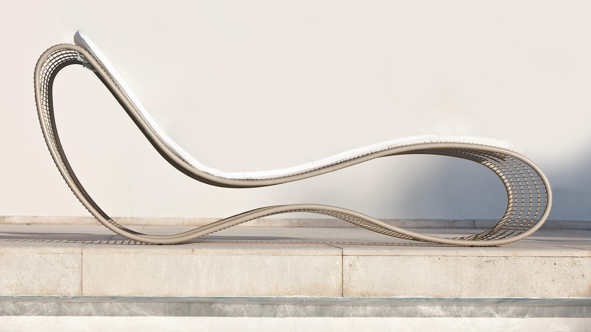 Sinuo chaise longue da esterno - Italy Dream Design