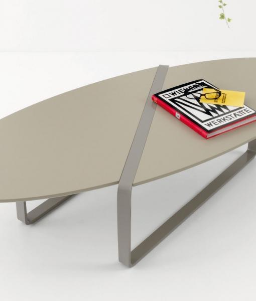 Print Table Basse Ovale En Metal Et Mdf Idd
