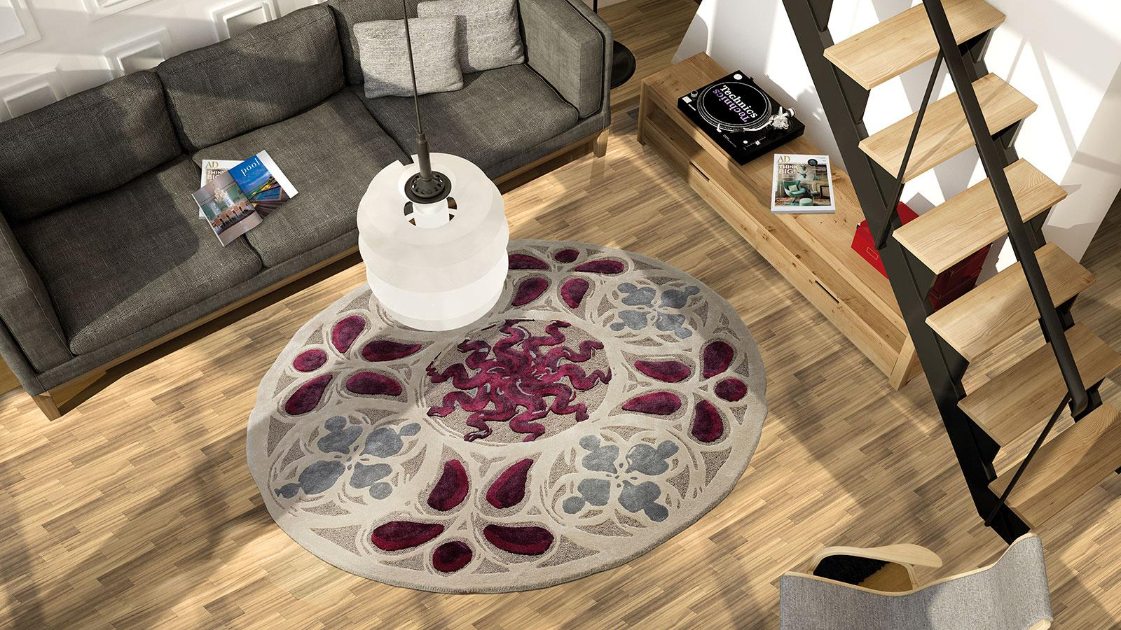 Populaire Tapis Rond Prune. Interesting Grand Tapis Rond Love Rond  ZI64