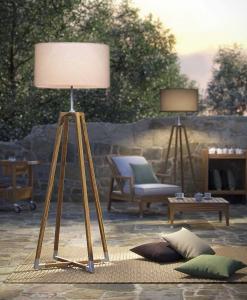 Starship lampada da esterno in teak ed acciaio. Illuminazione da giardino di alta qualità. Acquista online l'arredamento da esterno più lussuoso.