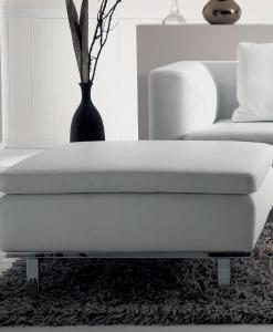Samar fauteuil rev tu de cuir idd for Pouf contemporain design